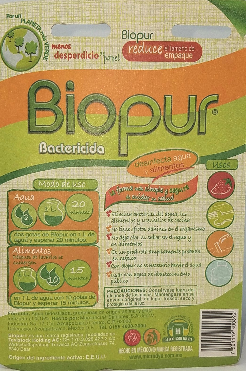 Biopur Fruit and Vegetable Wash 30ml (Pack of 2) and Especiales Cosas Spatula by Biopur (Image #1)