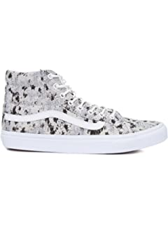 2defe472ff Vans Sk8 Hi Slim Womens 5 Italian Weave Abstract True White Fashion Sneaker