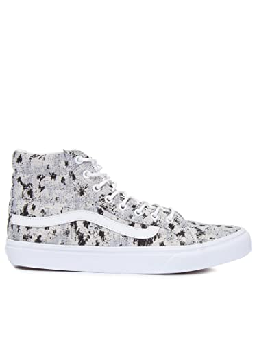 Image Unavailable. Image not available for. Color  Vans Sk8 Hi Slim Womens  5 Italian Weave Abstract True White Fashion Sneaker 4e9722ccf