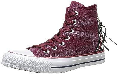 Converse Damen Chuck Taylor All Star Femme Sparkle Wash Tri Zip Hi Sneaker, schwarz, Talla
