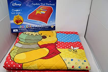 Caleffi Spring Quilt Single Cotton Winnie The Pooh Pooh Patchwork Var 034 Red Amazon Co Uk Kitchen Home