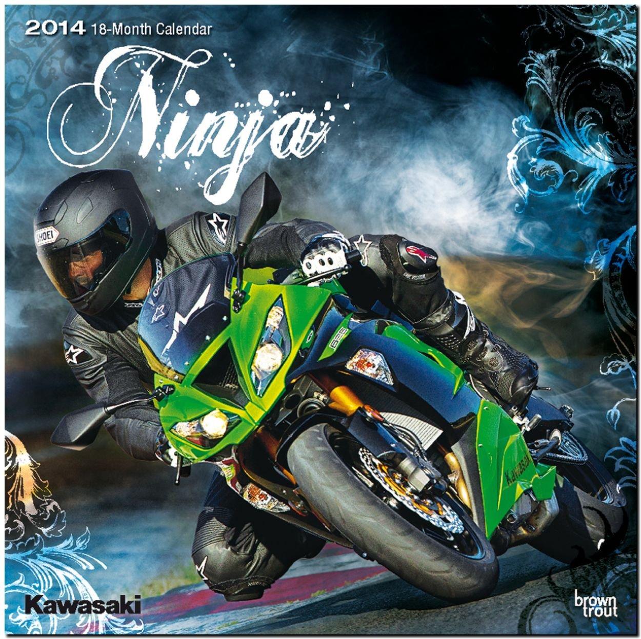 Kawasaki 2014: Original BrownTrout-Kalender [Mehrsprachig] [Kalender]