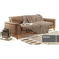 Sofa Şönil Dokuma Kaymaz Koltuk Örtüsü Şalı Takım - 12 renk seçeneği (Vizon, Polyester)
