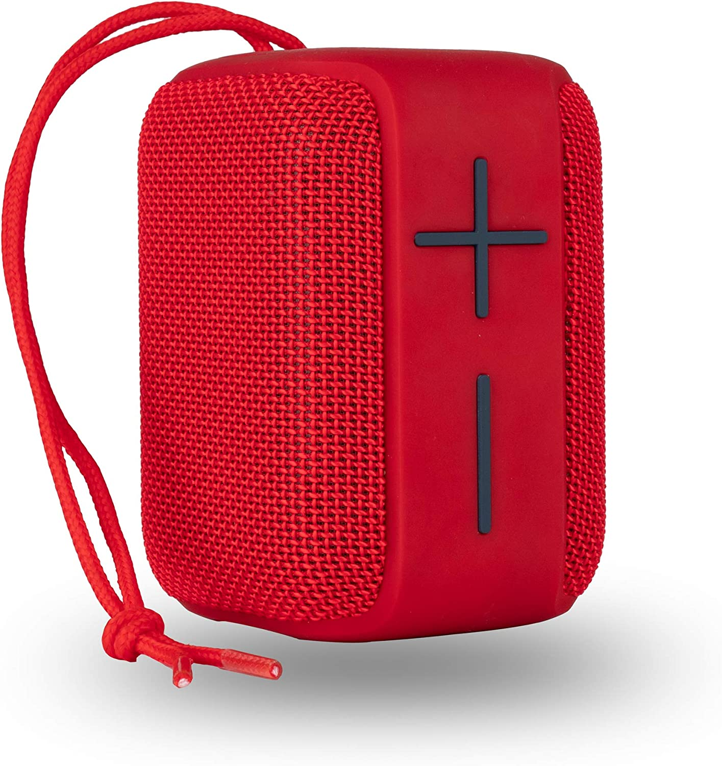 NGS Roller Coaster Red - Altavoz portátil de 10W Compatible con Tecnología Bluetooth y True Wireless (USB/Micro SD-AUX IN), Resistente al Agua IPX6. Color Rojo