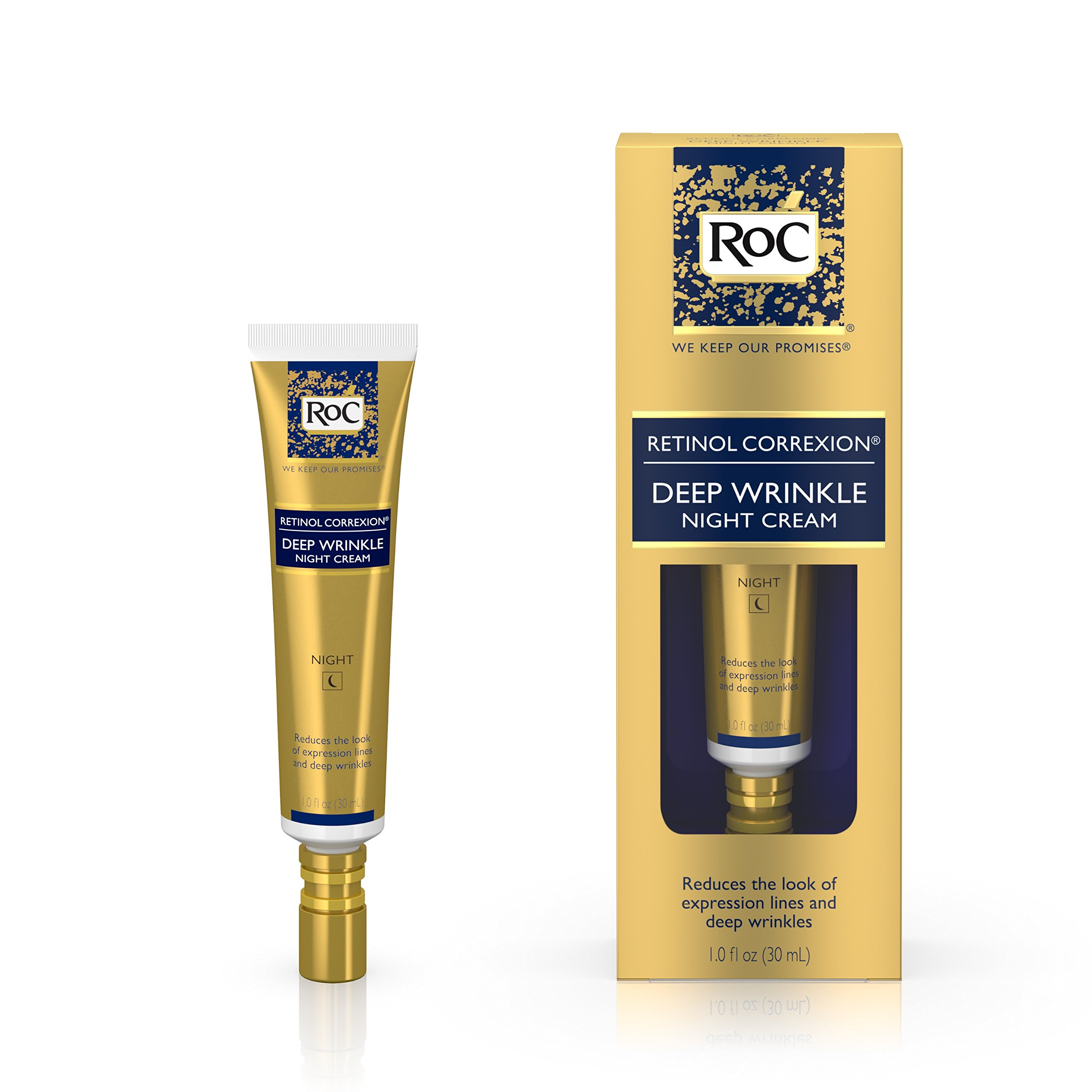 RoC Retinol Correxion Deep Wrinkle Anti-Aging Retinol Night Cream, Oil-Free and Non-Comedogenic, 1 oz by RoC (Image #12)