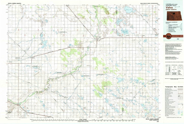 Amazon.com: North Dakota Maps | 1980 Velva, ND USGS ...