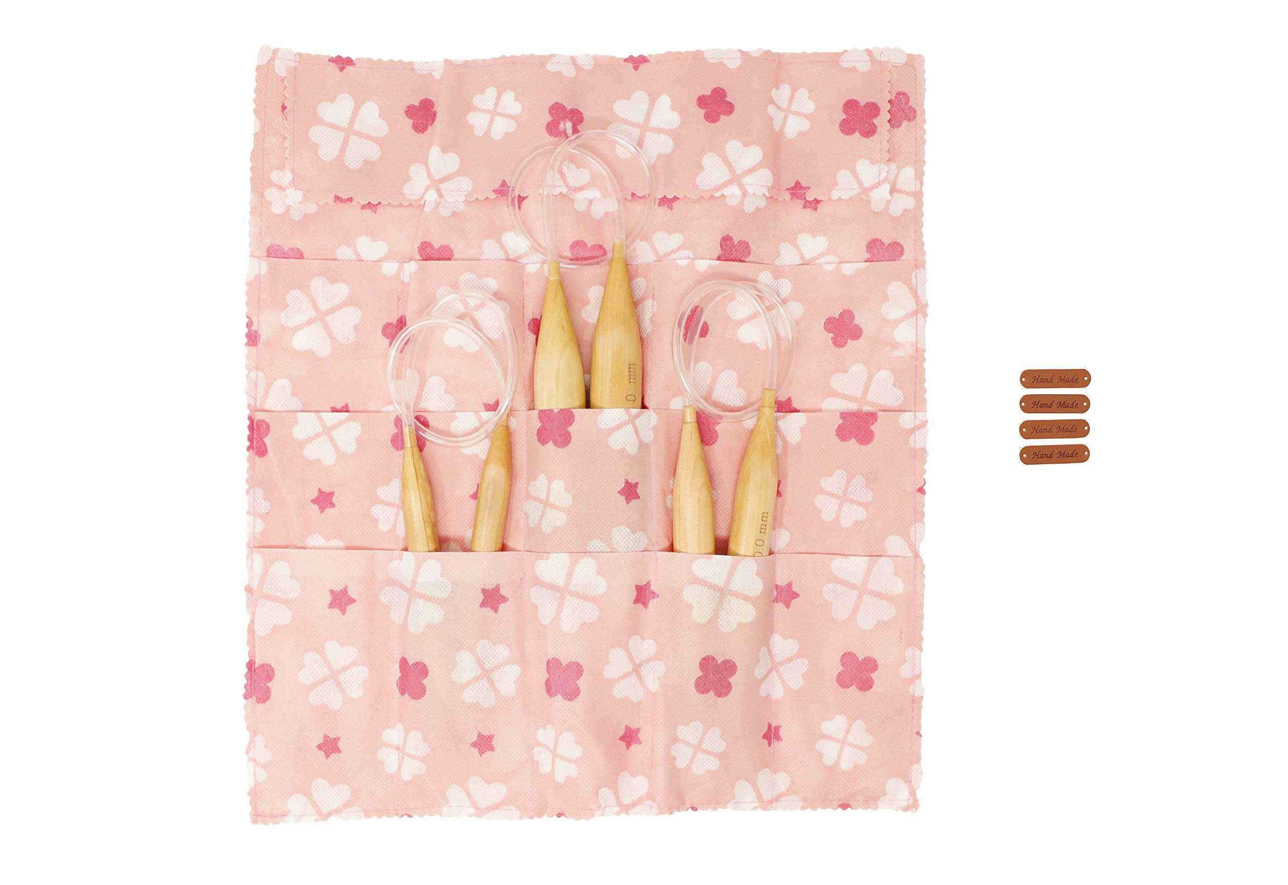 60'' Jumbo Wooden Circular Knitting Needles Set of 3 I Chunky Yarn (US Sizes 19, 35 & 50) with Bonuses   Great Knitters Gift
