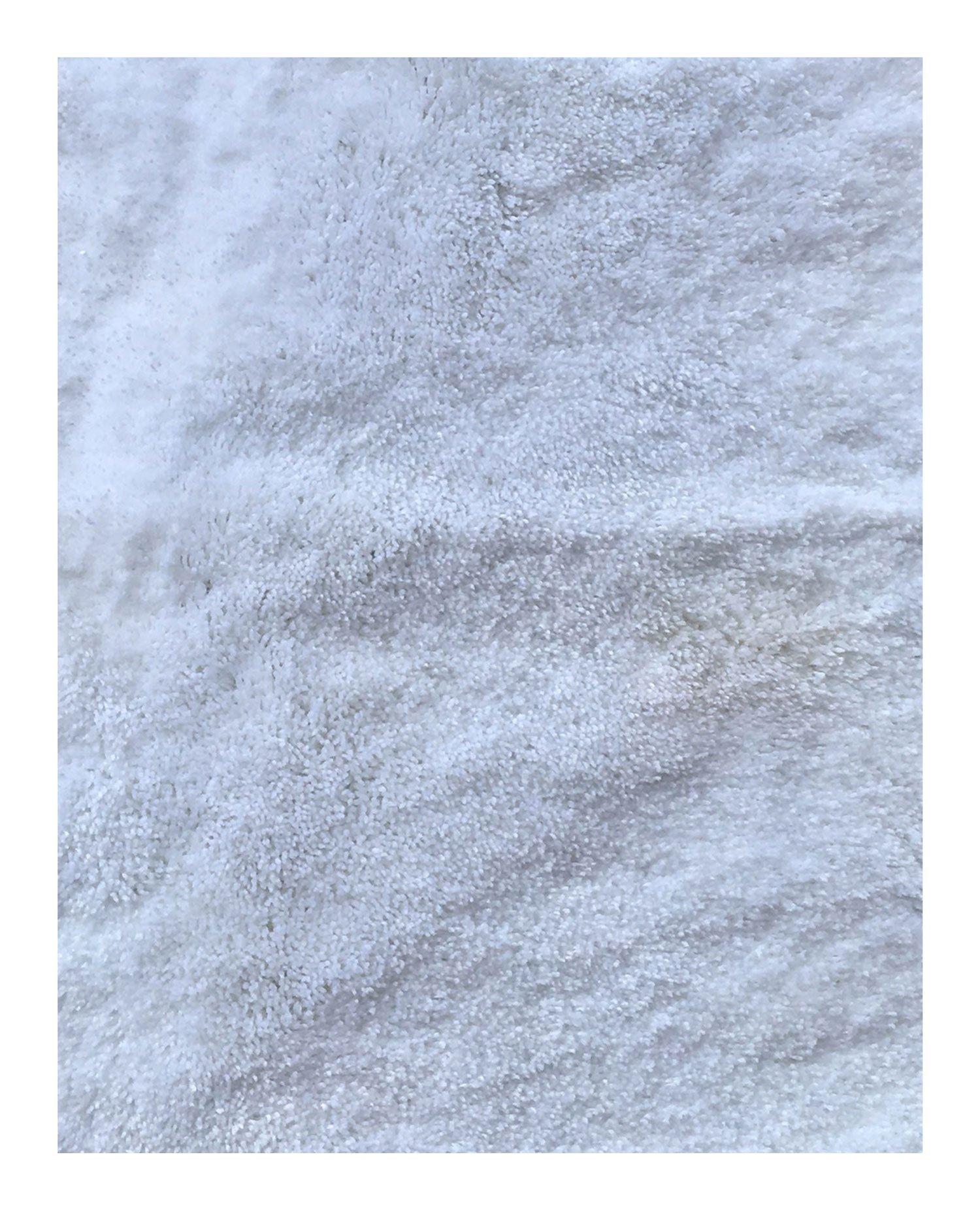 Mohawk Home Cut To Fit Royale Velvet Plush Bath Carpet, Bright White, 5 by 6 Feet