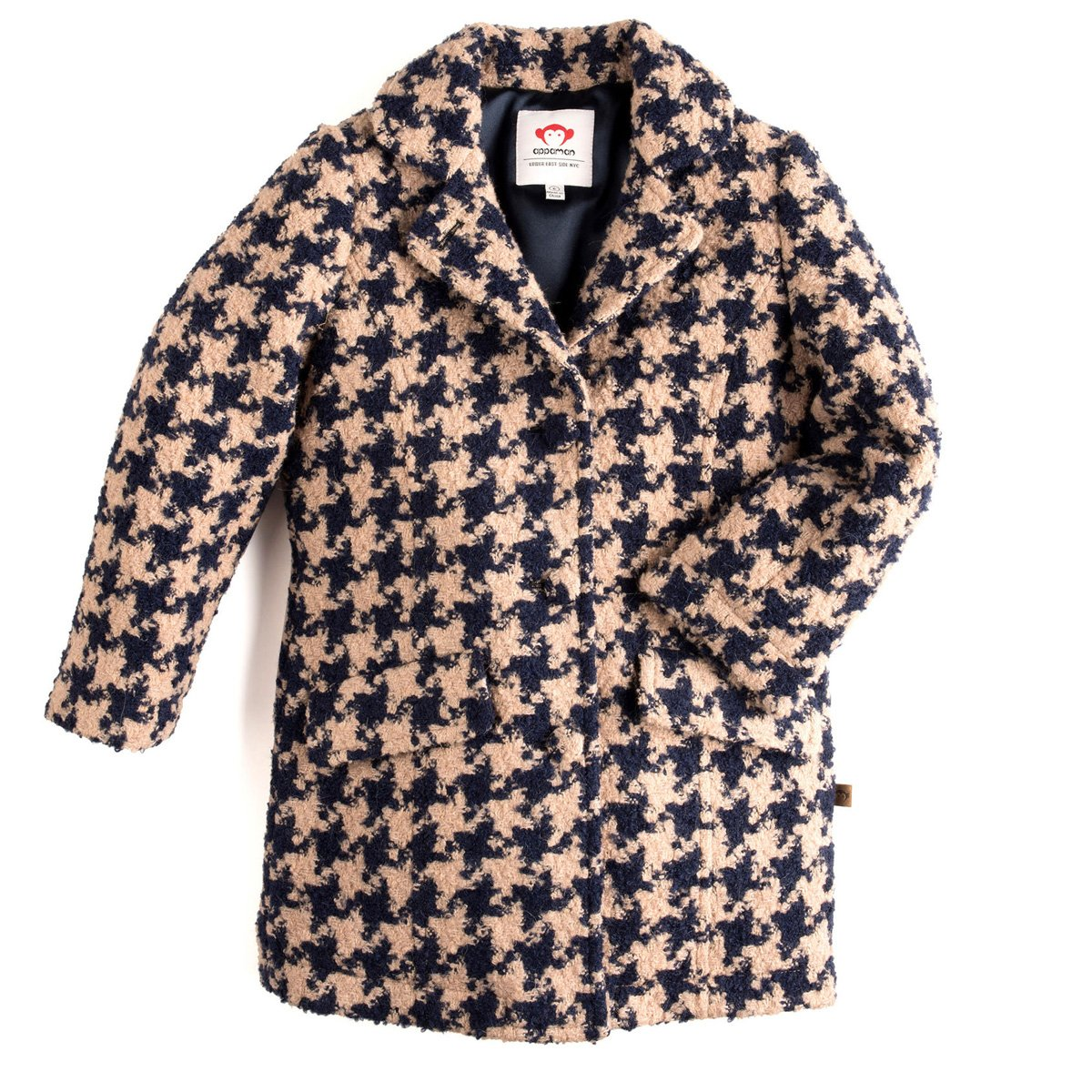 Appaman Big Girls' Houndstooth Top Coat, 5