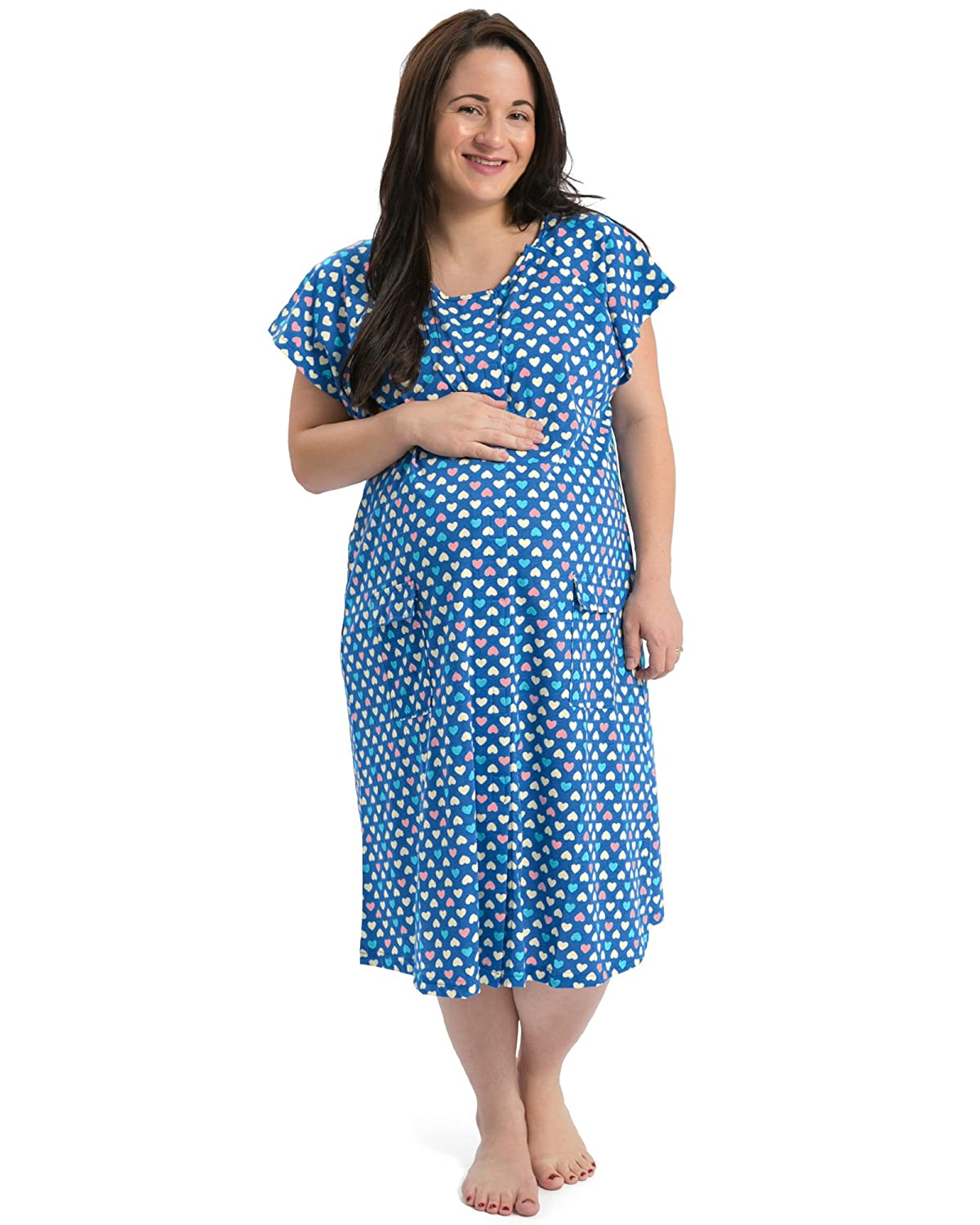 The Bravely Labor and Delivery Gown - The Perfect for Maternity/Hospital / Nursing