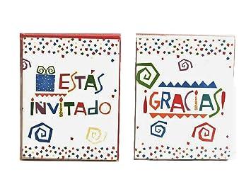 amazon com esta invitado y gracias spanish party invitations and