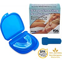 Premium Anti-Snoring Mouth Piece by Breathe Easy™ | BPA & Latex Free Snoring Solution | Non-Allergenic Clear Material | Eliminates Teeth Grinding & Bruxium | Sleep Better & Better Health