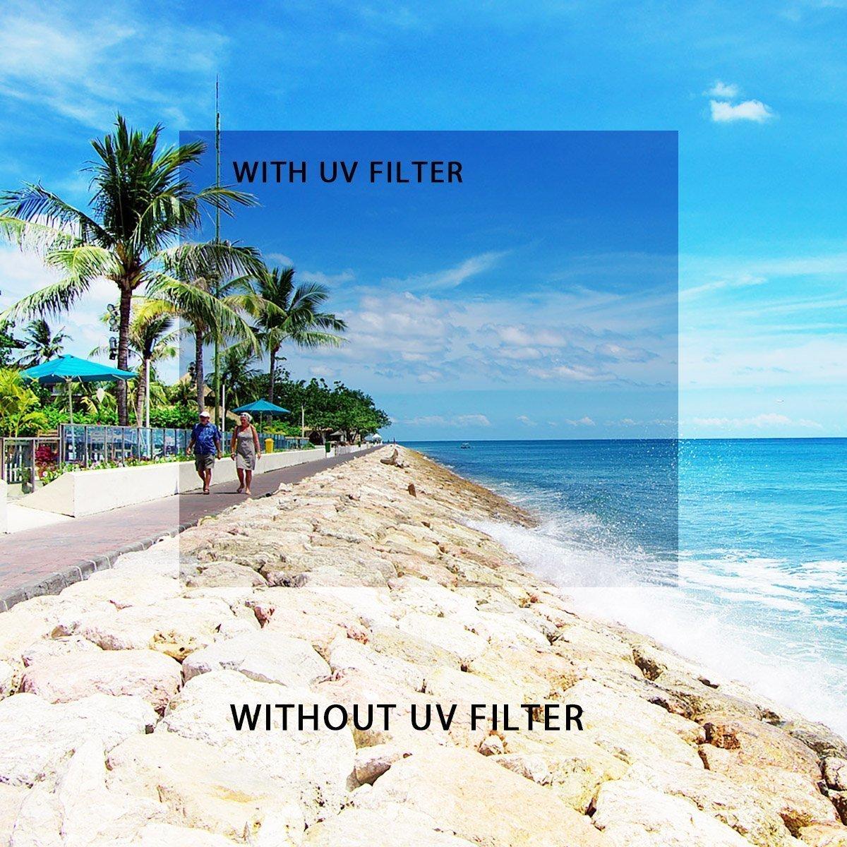 Beschoi Filtro Nd+Uv+Filtro Fld+CPL Kit Filtri 11 Accessori per Canon Nikon Sony Sigma DSLR 67mm