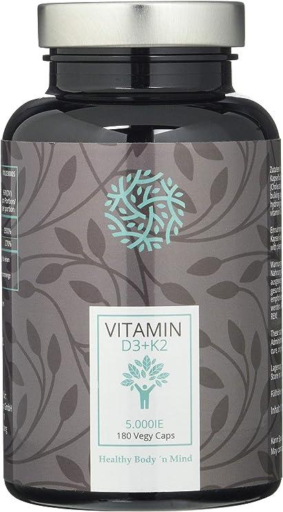 Healthy Body ´n Mind Vitamin D3 + K2 5-Day Depot Es 80 G, 180 Unidades