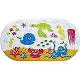Salinka Alfombrilla de baño antideslizante para bebés con motivos del océano - Sin ftalatos ni plomo - Alfombrilla antideslizante para bañera o ducha - Duradero PVC resistente a hongos y mohos