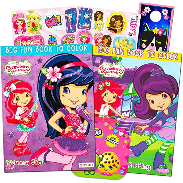 - Amazon.com: Strawberry Shortcake Coloring Book Super Set -- 2 Jumbo Coloring  Books With Over 100 Stickers: Toys & Games