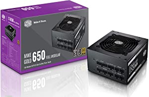 Cooler Master MPY-6501-AFAAG-US MWE 650 Gold Full Modular, 80+ Gold Certified 650W Power Supply, 5 Year Warranty