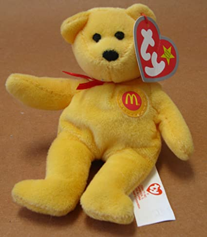 a47c46aa1a2 Image Unavailable. Image not available for. Color  Golden Arches the Gold  Teddy Bear McDonald s Ty Teenie Beanie 2004 - 04