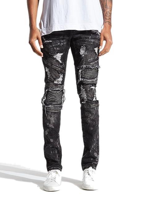 f49242ea Embellish Volstead Biker Denim (Black, 38) at Amazon Men's Clothing store: