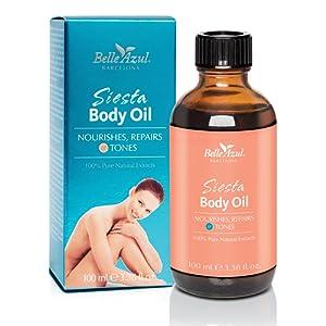 Belle Azul Siesta Body Oil - Huile Naturelle Corps Raffermissante et Nourrissante, Huile d'Argan Biologique certifiée Ecocert. Vegan ? 100ml