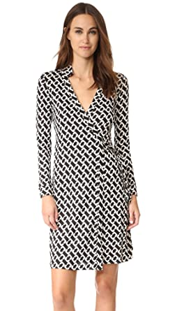 6c22dfff77fc9 Diane von Furstenberg Women's New Jeanne Two Wrap Dress, Chain Link Medium,  ...