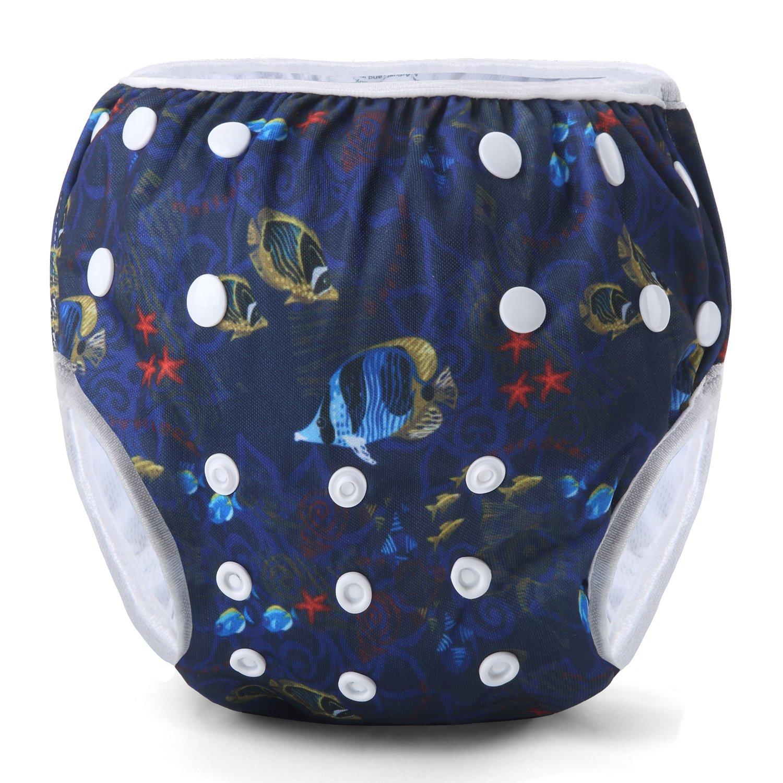 Storeofbaby Baby Reusable Swim Diapers Swimming Nappy for Newborn Toddler 0-3 Years