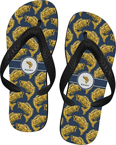 8b1bbbf5e65ae3 RNK Shops Fish Flip Flops - XSmall (Personalized)