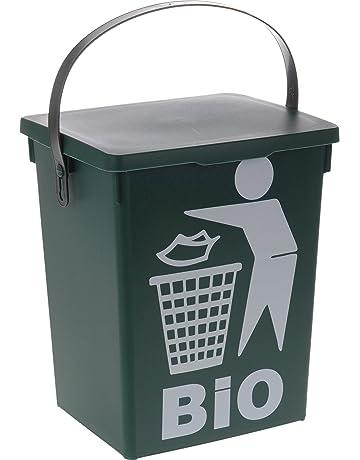 hibuy Cocina Compost Cubo para Basura de Cocina Bio Verde