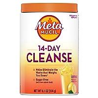 Metamucil 14-Day Cleanse Fiber, Eliminate Waste, 30 Servings, Psyllium Husk Fiber...