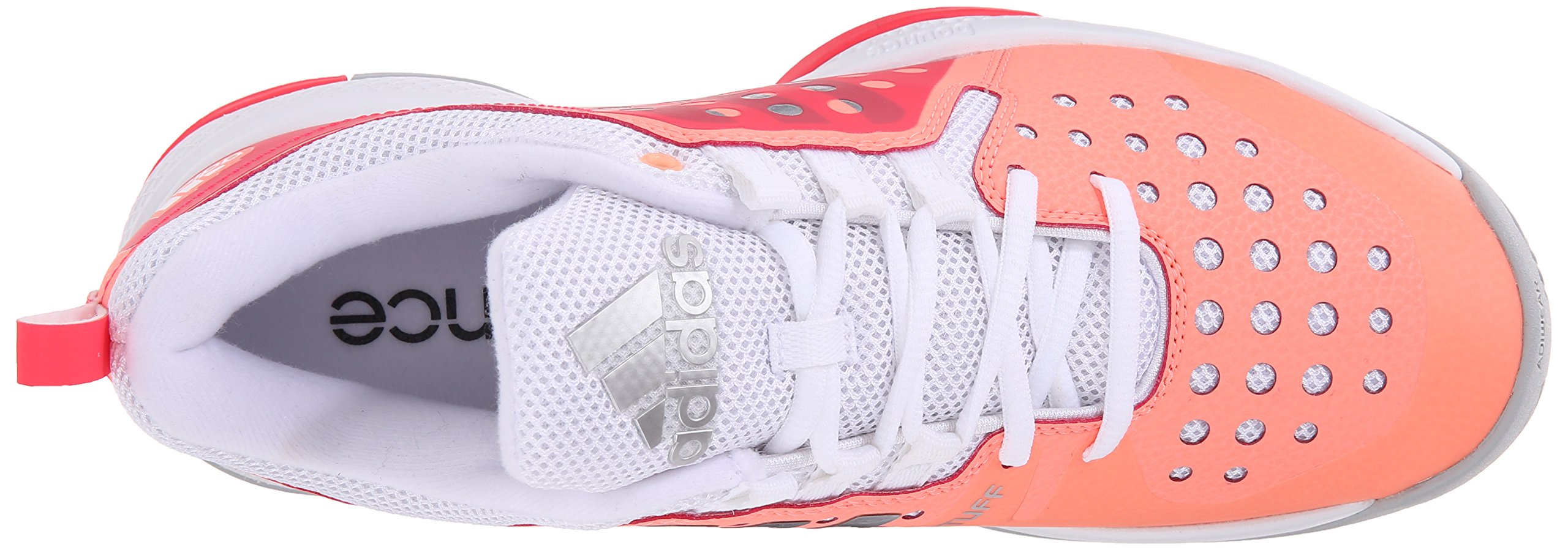 adidas Performance Women's Barricade Classic Bounce W Training Footwear,Sun Glow Yellow/Metallic Silver/Shock Red,9.5 M US by adidas (Image #8)