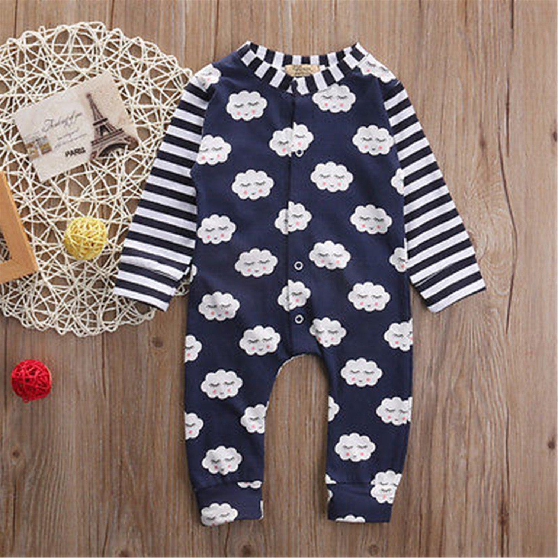 Susan1999 Newborn Infant Baby Boy Girls Outfits Cotton Romper Cloud Jumpsuit One-Pieces