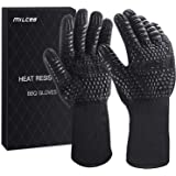 MILcea BBQ Gloves 1472° F Extreme Heat Resistant Gloves for Grill, Cooking Grill Gloves, for Handling Heat Food Right on Your
