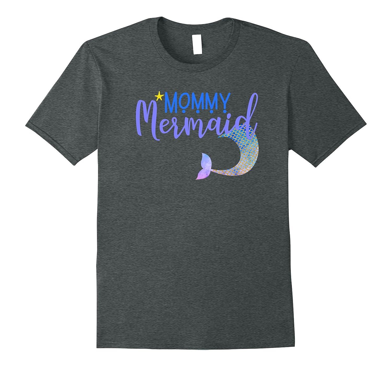 Mer Mom Shirt Womens Mer Mama Mermaid Mommy T Shirt-FL