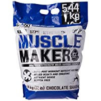 Giant Sports Muscle Maker Gainer Protein, Maximum Strength Mass Complex for Bodybuilding - Chocolate Flavour, 12lbs.