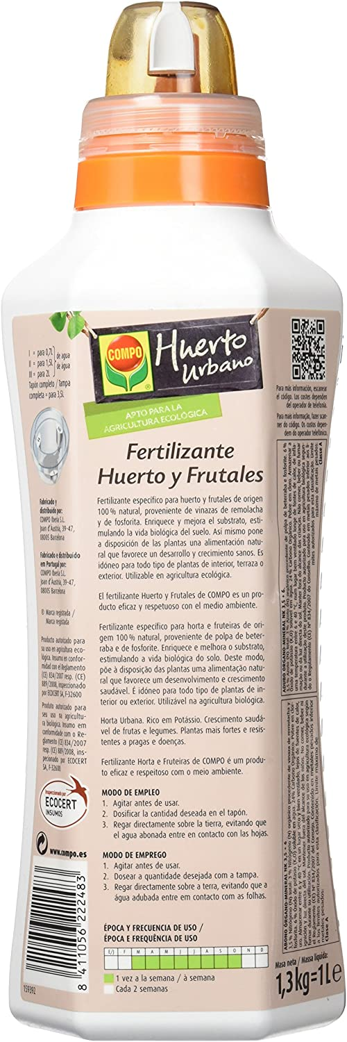 Compo 2224802011 - Fertilizante huerto y frutales, 1000 ml: Amazon ...