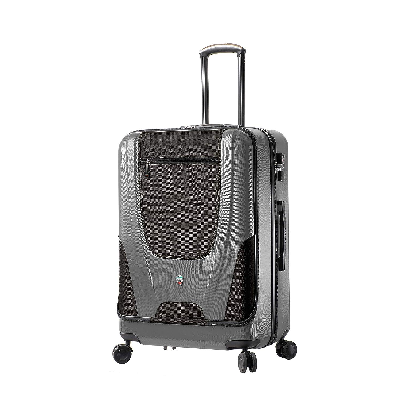 Mia Toro, M1325-27IN-SLV スーツケース, シルバー, One Size B07N8VBHM3