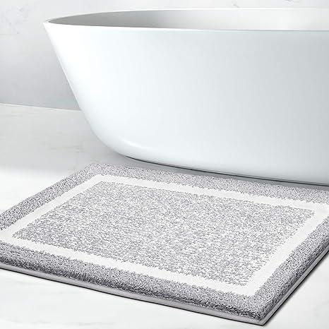 Amazon Com Bathroom Rug Mat Ultra Soft And Water Absorbent Bath Rug Bath Carpet Machine Wash Dry For Tub Shower And Bath Room Home Kitchen