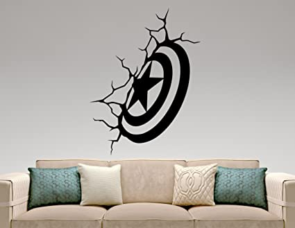 Amazon Com Captain America Shield Wall Decal Marvel Comics