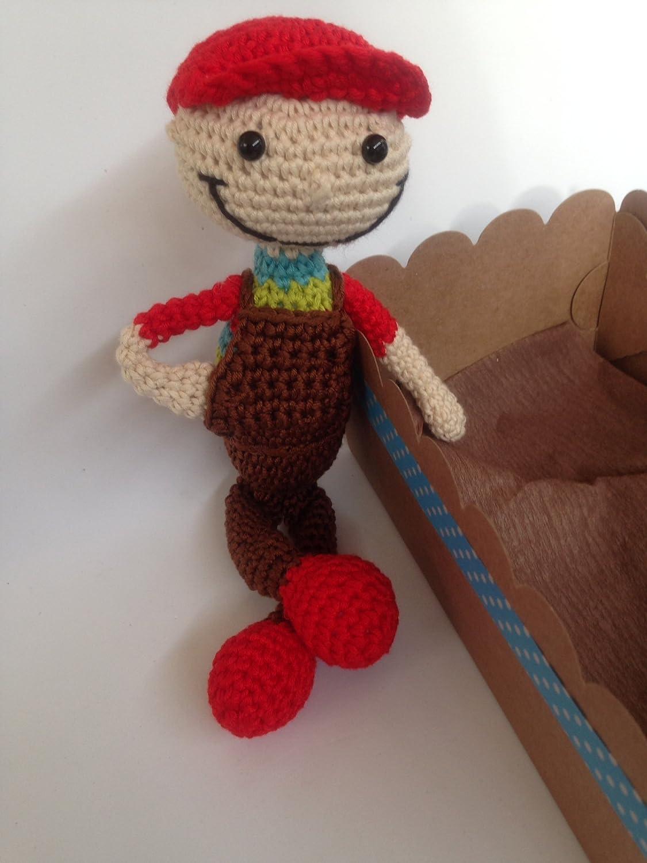 Muñeco niño con gorra hecho a mano.: Amazon.es: Handmade