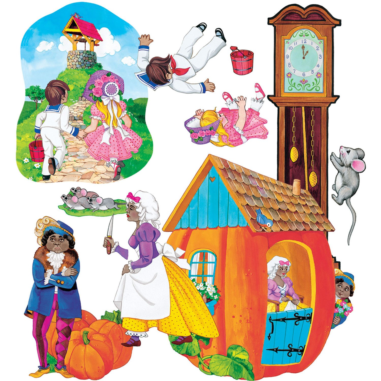 3 Blind Mice Peter Pumpkin Eater SPIG **Do NOT activate** LFV22001 Hickory Dickory Nursery Rhymes 1 felt figures for flannel boards-4 rhymes Jacks Jill