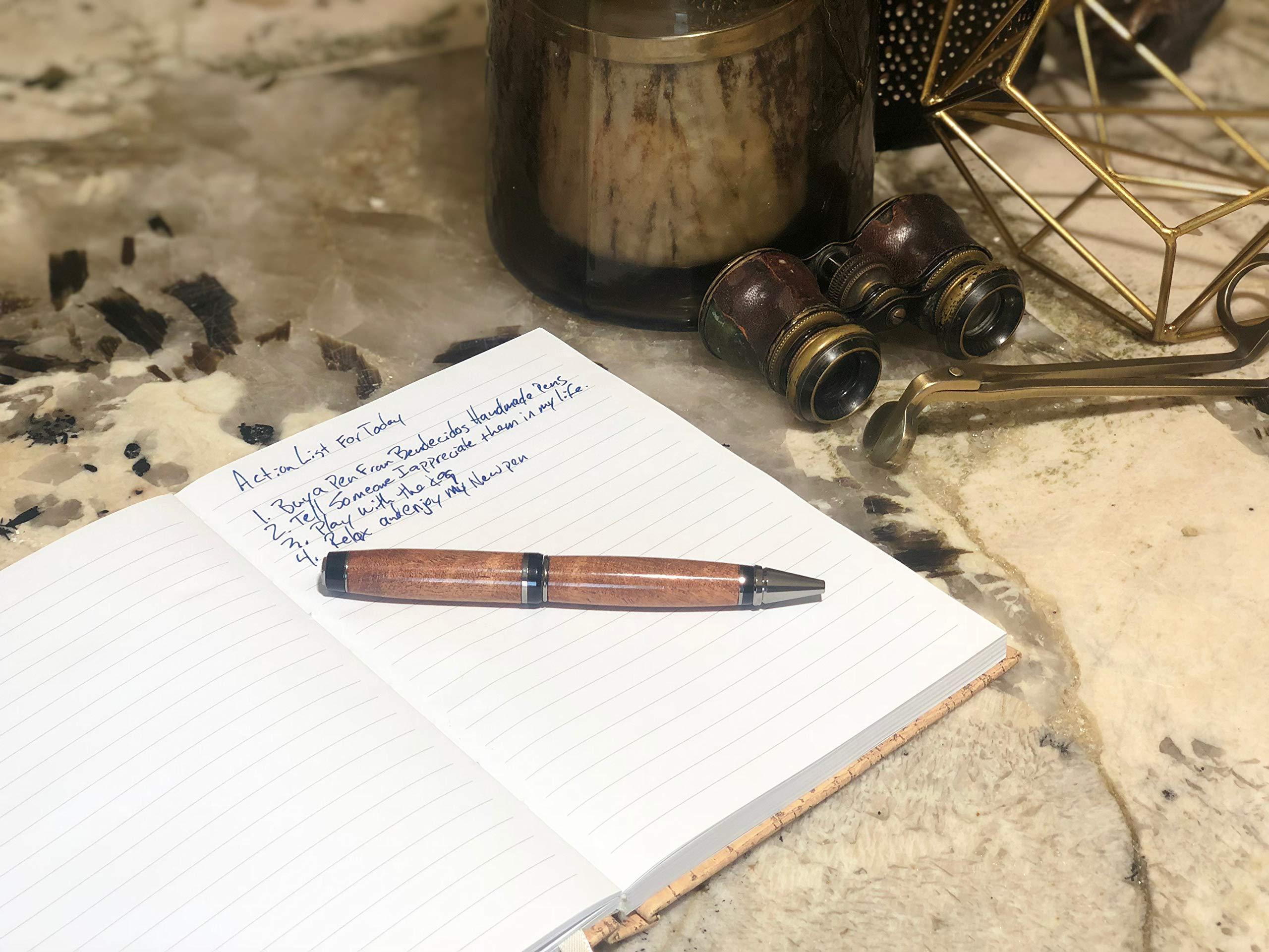 Bendecidos Pens Handmade Pens Texas Mesquite Wood, Black Titanium Plating by Bendecidos Pens (Image #9)