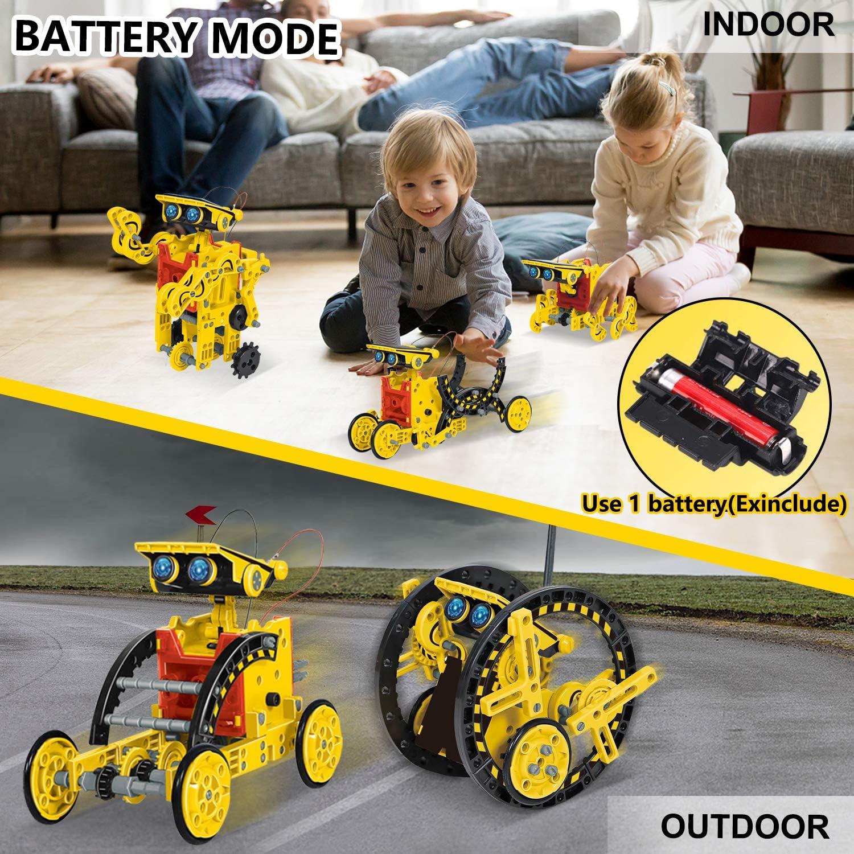 HOMOFY STEM Toys 2020 New Upgrade Solar Robot Kit 12 in 1 ...