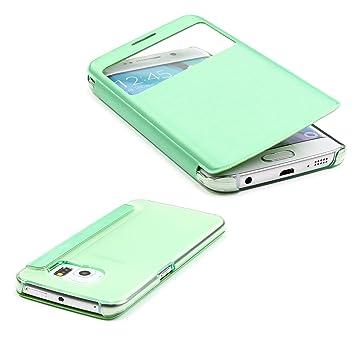 Urcover® Funda Compatible con Samsung Galaxy Note 4 S-View ...