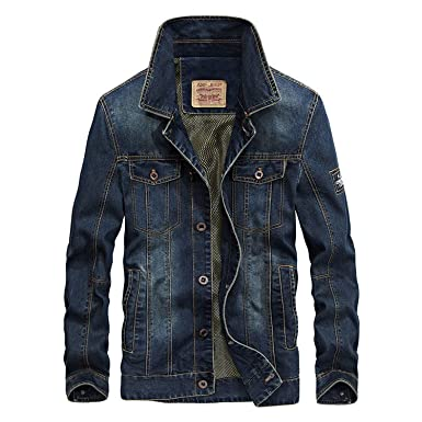 Fly Far 2018 Autumn Winter Men Fashion Denim Jacket Fashion Casual