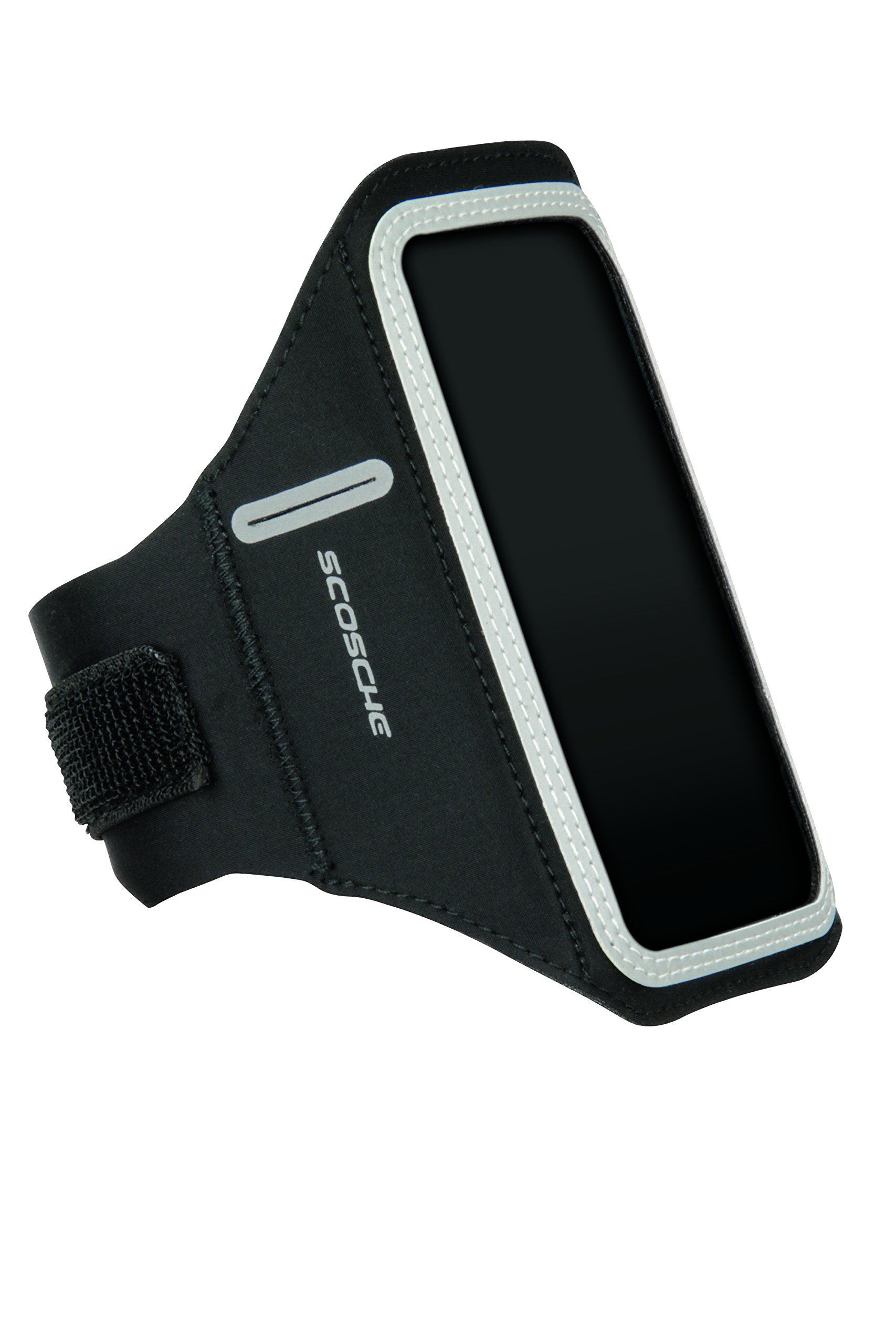 SCOSCHE SoundKase XL Ultra-Light Sport Armband Cell Phone Case for Universal Smartphones - Fits Most Apple, Android, Samsung, HTC, LG and Motorola Devices - Black/Gray - X-Large Armband (HFDABXL)