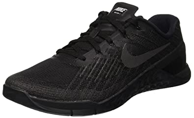 ce330b649408 Nike Mens Metcon 3 Training shoe Black Black 7.5