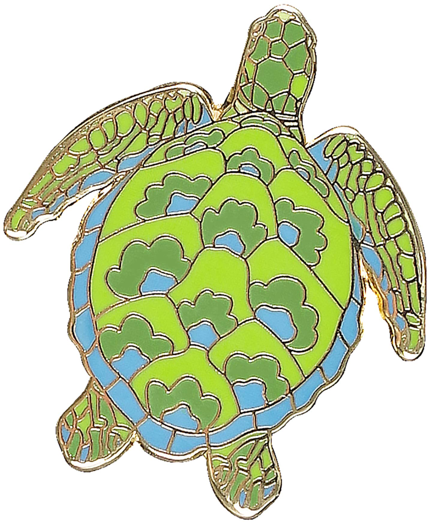 Leatherback turtle Loggerhead turtle Green turtle Hawksbill turtle Endangered species Sea Turtles 4-Button Set 1.25 round pinback buttons