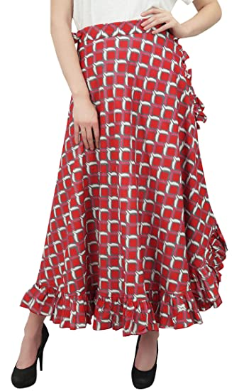 Phagun Printed Femme Jupe Ikat Volantée Hippie Auto Ceinture Coton AjL35q4ScR