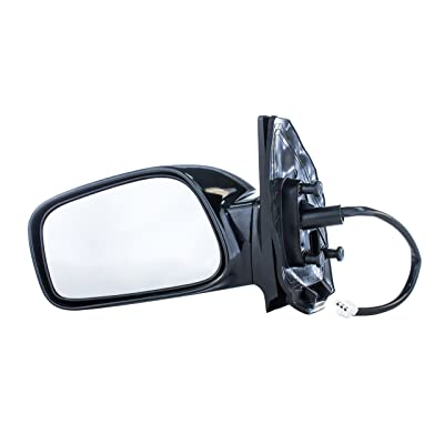 Driver Mirror for Toyota Corolla CE (2003 2004 2005 2006 2007 2008) Side Smooth Black Power Operated Non-Heated Non-Folding Left Outside Rear View Replacement Door Mirror - Parts Link # TO1320208: Automotive [5Bkhe0909230]