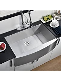 Comllen 304 Stainless Steel 33 Inch Farmhouse Kitchen Sink, Single Bowl 16  Gauge 10 Inch